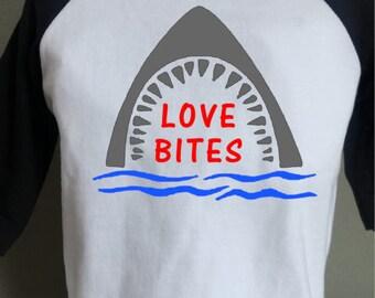 Love Bites - Valentines Day Shirt - Boys Valentines Day Shirt - Toddler Valentines Day Shirt - Shark Love Bites Shirt - Shark Shirt