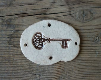 Ceramic decoration Key handmade