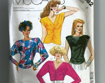 McCall's Misses' Tops For Stretch Knits Only Pattern 2582