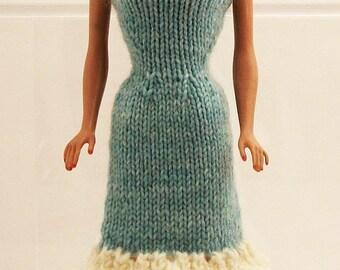 Powder-Blue Strapless Dress for Barbie Dolls