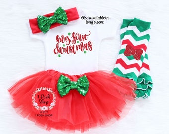 Baby First Christmas Outfit, Girl First Christmas Outfit, Baby Girl Firsts Christmas, Baby 1st Christmas Outfit, Baby Christmas Headband HC1