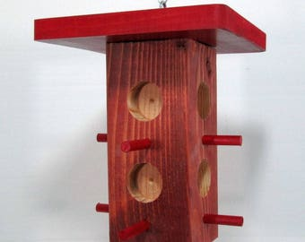 Peanut Butter and Seed Feeder