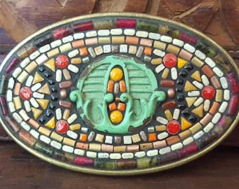 Vintage Inspired Mosaic Belt Buckle