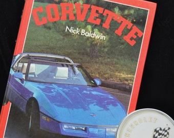 Vintage Corvette Collection '63-'84 Picture Book Coasters in Metal Tin Mancave barware Decor Collectible GM Memorabila Library/Racing Hotrod