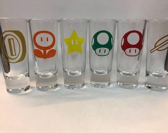 Mario Power-ups shooter/shot glasses