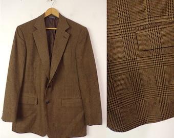 90s Polo Ralph Lauren Brown Tweed Blazer Mens Size 42L,Wool Blend Blazer,Brown & Black Tweed, Tweed Sport Coat, Ralph Lauren, Classic Blazer