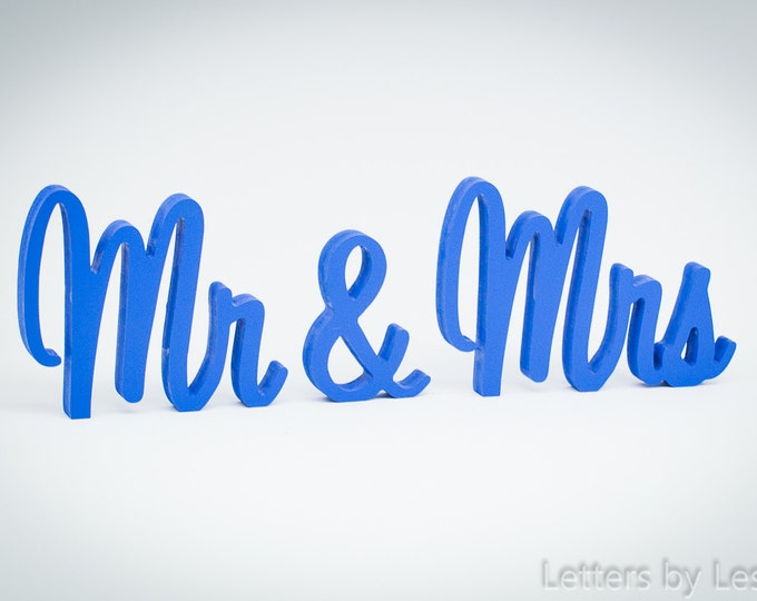 MR MRS wooden sign, sweetheart table, wedding, wooden letters table decor, wood sign wedding table decoration, Mr & Mrs, Mr Mrs