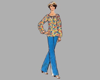 1978 Top/Skirt/Pants pattern, Simplicity 8352 Bust 40 and 42, UNCUT, Raglan sleeves, Front zipper pants/waistband, Loose fit sleeves