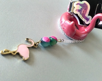 Pink Flamingo Paradise Necklace - 18in/lobster clasp