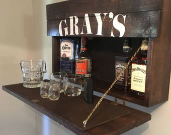 Custom Hideaway Liquor Cabinet/Mini Bar