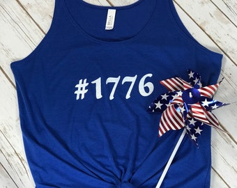 READY TO SHIP*** 4th of July #1776 Tank Top