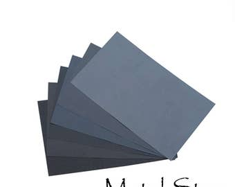 """Wet-or-Dry Fine Grit Sandpaper 9"""" x 11"""" sheets - You choose the grit. 180, 240, 320, 400, 600, 800, 1200, and 2000 grit jewelers sandpaper"""
