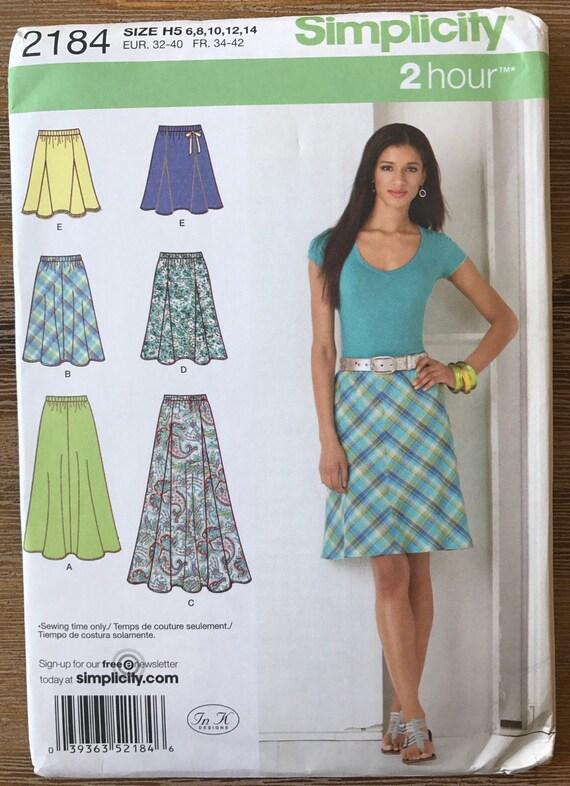 UNCUT Simplicity 2184 Skirt Sewing Pattern Size 6-8-10-12-14 Maxi ...
