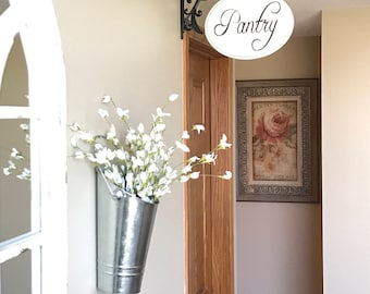 Pantry Sign French Country Farmhouse Kitchen Decor Wood