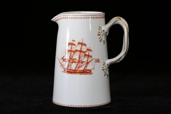 SPODE Trade Winds Pitcher Spode Trade Winds Red Spode