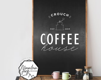 CUSTOMIZED Coffee House, Family Name - INSTANT PRINT!