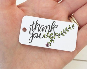 Thank You Tags / Wedding Favor Tags / Bridal Shower Tags / Product Tags / Product Labels / Product Packaging / Knitting Labels / Hang Tags