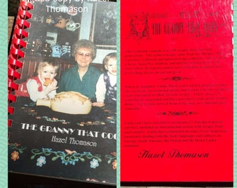 Vintage Cookbook The Granny That Cooks Signed by Author Hazel Thomason ©1996 Glossy Spiralbound/#vintagecookbook/#midwesternrecipes/#cooking