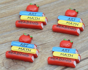10PCS/pack 25X27mm Resin Schooling Books,Back to School Souvenirs,Resin Cabchons,D.I.Y Miniatures Free Shipping
