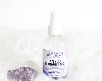 Lavender Chamomile Relaxing Spray. Linen Freshening Mist. Antibacterial Pillow Spritz. Amethyst Charged Facial Toner. Natural Bug Repellant.
