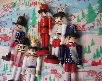 six darling wooden soldier ornaments