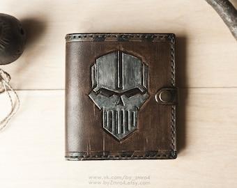 Warhammer 40k Wallet, Warhammer 40000 Iron Warriors Leather Wallet, Chaos Wallet, Warhammer Purse, Geek Gift