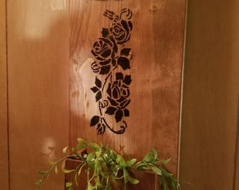 Handmade rustic wall decor with planter