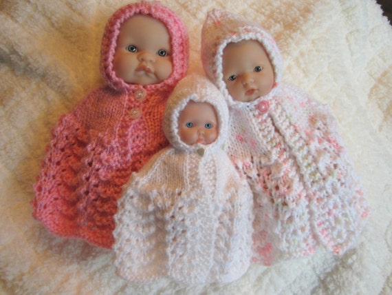 Doll Clothing Knit Pattern Berenguer Baby Doll Carrying Cape