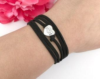mom bracelet - wrap bracelet - expecting mother gift - mother gift - mothers day gift - mom jewelry - mom bracelet - gift for her - mothers
