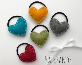 2 heart hair bands for girls!