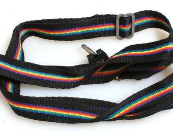 1960s Camera Strap//Rainbow Strap//Thin strap//Vintage Strap