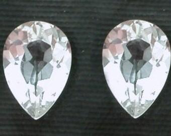 two 7x5 pear white topaz gem stone gemstone natural