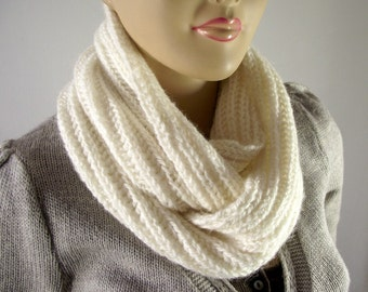 KNITTING COWL PATTERN Scarf - I love Snow - Cowl Infinity Scarf women brioche knit scarf patterns hood scarf Pdf File Instant Download
