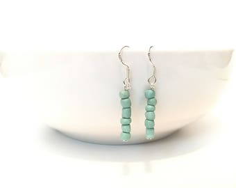 Teal Dangle Earrings, Dangle Earrings, Teal Earrings, Gift for Her, Mom, Teal Wedding Jewelry, Beach Wedding, Lightweight Earrings