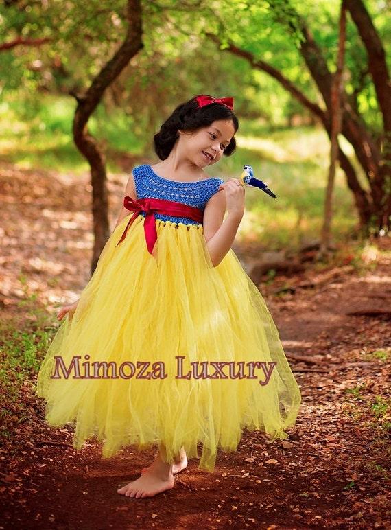 Snow white luxury princess dress flower girl dress tutu mightylinksfo Gallery