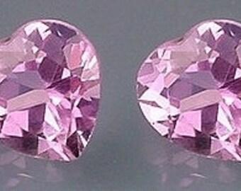 one 7mm amethyst heart gem stone gemstone
