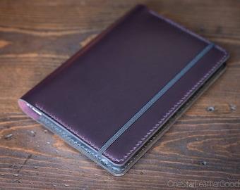 Leuchtturm 1917 Medium (A5) Hardcover Notebook cover - Horween Chromexcel, purple