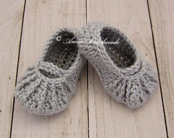 Baby slippers, Crochet baby shoes, Baby girl shoes, Baby girl crochet shoes, baby girl summer shoes for Newborn to 12 Months, Made to order