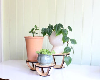 Indoor Plant Stand | Indoor Maple Wood Plant Stand | Wood Plant Holder | Pot Stand