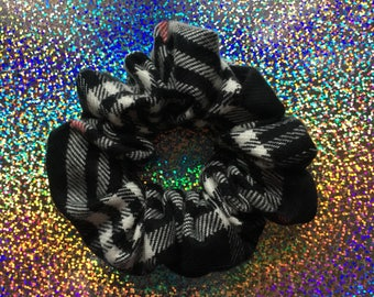BLACK Hole Flannel Hair Scrunchie