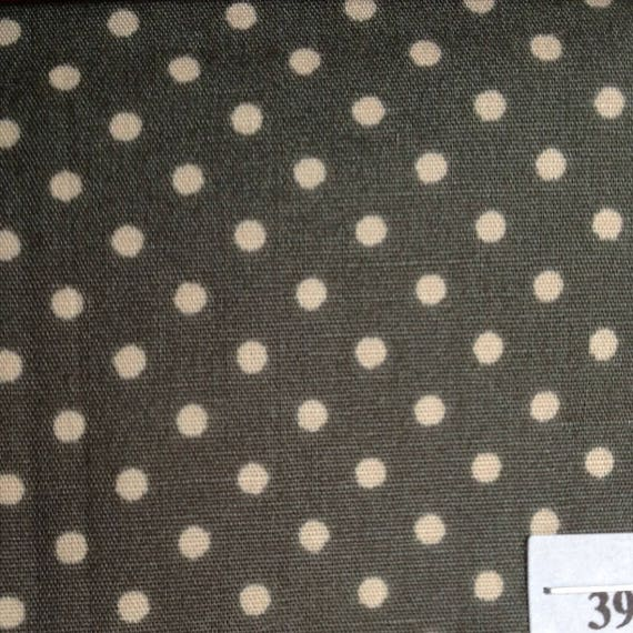High quality cotton poplin printed in Japan, 3mm grey green polkadots no39