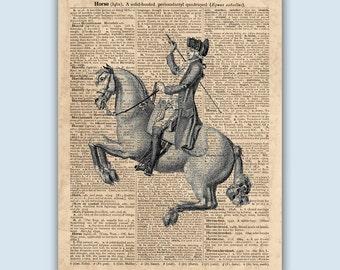 Horse art, Horse Riding Print, Equestrian Decor, Gift for Horse Lover, Horse Riding Poster, Horseback Riding, Equine Art, SKUH4