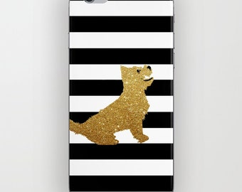 West Highland Terrier in Golden Glitter Phone Case  -  Dog Gift Ideas, iPhone 6S, iPhone 6 Plus, Terrier Gifts, Samsung Galaxy S6, iPhone 8