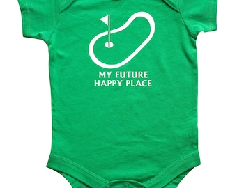 Future Happy Place Golf baby bodysuit - baby gift