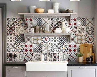 """PS00166 """"Leopoli"""" Adesivi in pvc per piastrelle per bagno e cucina Decorazioni per ceramica varie misure"""