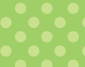 Trick or Treat Green Dots by Doodlebug Designs, inc. for Riley Blake, 1/2 yard