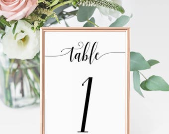 Printable Table Numbers 1-40, Instant Download, Printable Wedding Design, Wedding Table Numbers, Table Numbers, Wedding Decorations, DIY