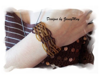 Twist Bracelet Pattern, Beading Tutorial in PDF