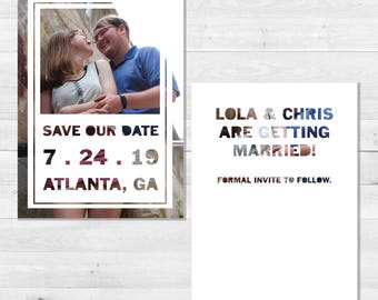 Modern Typography Printable Save The Date