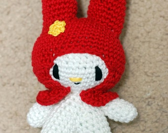 My Melody Crochet Amigurumi Doll (Standing)